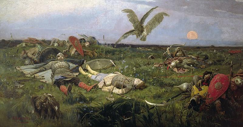 Васнецов: После побоища Игоря Святославича с половцами