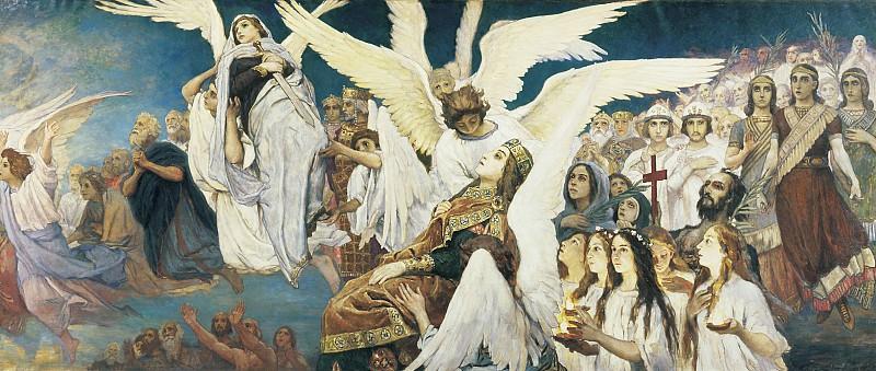 Васнецов: Радость праведных о Господе. Триптих, (правая часть)
