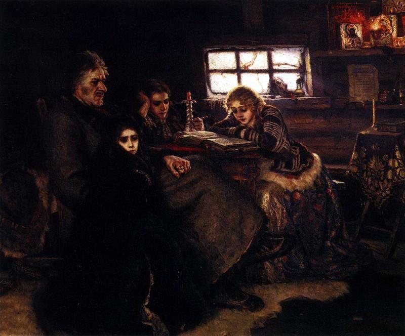 Суриков: Меншиков в Березове. 1883