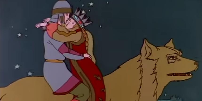 Иван-царевич и Серый Волк (мультфильм с рисунками Билибина)