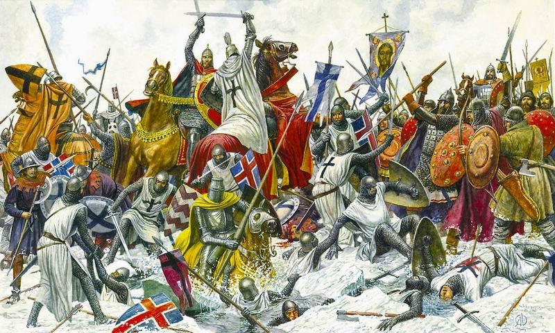 «Ледовое побоище» Святого князя Александра Невского 1242 г.